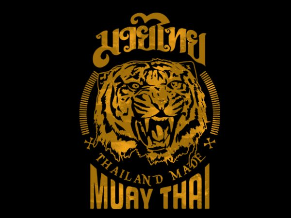 Muay Thai 8 vector buy t shirt design for commercial use