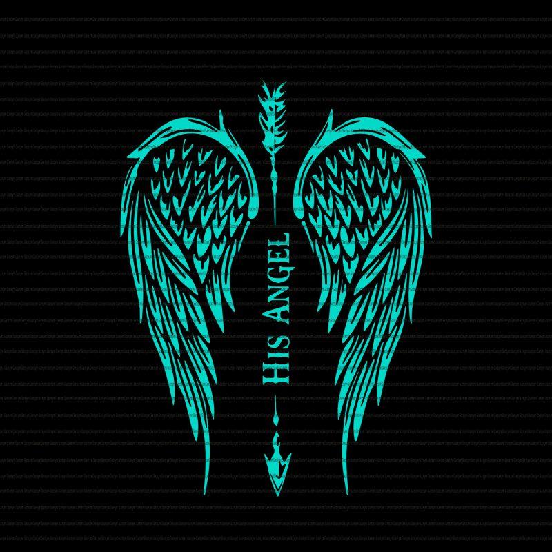 His angel wings svg,His angel wings png,His angel wings shirt,His angel wings design t shirt designs for printify