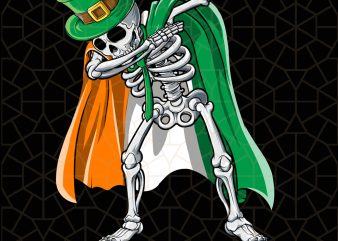 Dabbing Skeleton St Patricks Day Boys Leprechaun Skeleton Irish Flag Digital Download – St Patricks Day Digital – Funny Leprechaun Gifts t shirt vector illustration