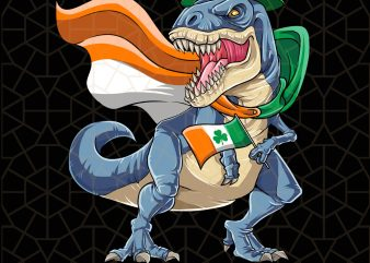 Irish Leprechaun Dinosaur T rex St Patricks Day Ireland Digital Download – St Patricks Day Digital – Funny Leprechaun Gifts t shirt design for sale