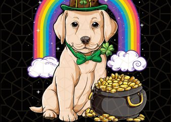 Labador St Patricks Day Leprechaun Dog Lover Digital Download – St Patricks Day Digital – Funny Leprechaun Gifts t shirt vector graphic
