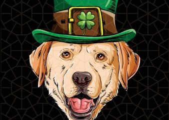 Labador St Patricks Day Leprechaun Dog Lover Gift Digital Download – St Patricks Day Digital – Funny Leprechaun Gifts t shirt vector graphic