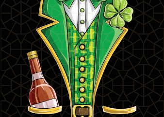 Leprechaun Costume St Patricks Day Beer Drinking Digital Download – St Patricks Day Digital – Funny Leprechaun Gifts t shirt vector graphic