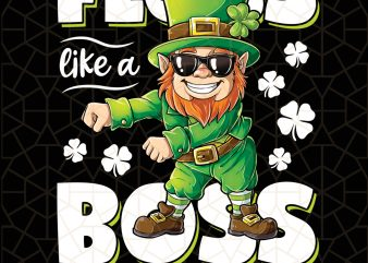 Leprechaun Floss Like A Boss St Patricks Day Digital Download – St Patricks Day Digital – Funny Leprechaun Gifts t shirt vector graphic