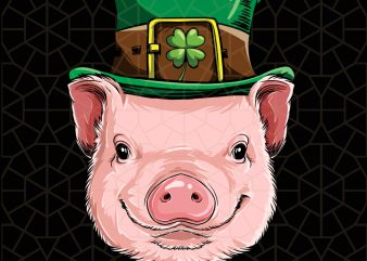 Pig St Patricks Day Boys Leprechaun Piggy Digital Download – St Patricks Day Digital – Funny Leprechaun Gifts t shirt illustration