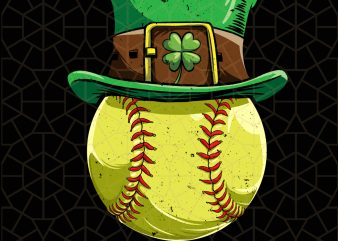 Softball Ball Leprechaun St Patricks Day Digital Download – St Patricks Day Digital – Funny Leprechaun Gifts t shirt template vector