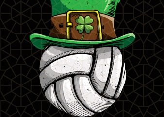 VolleyBall Leprechaun St Patricks Day Digital Download – St Patricks Day Digital – Funny Leprechaun Gifts t shirt vector art