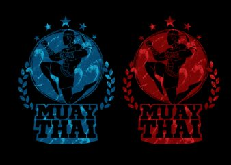 Muay Thai 11 commercial use t-shirt design
