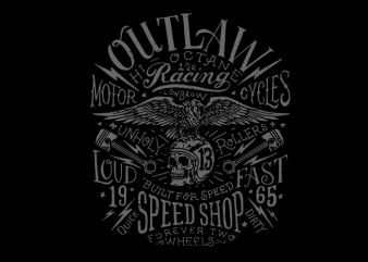 motor speed vector t-shirt design for sale
