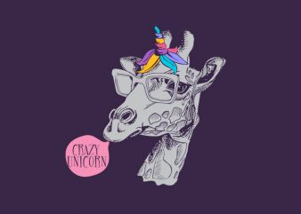 crazy-unicorn buy t shirt design for commercial use