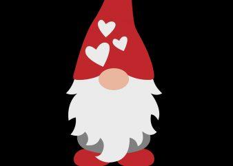 Gnome Boy svg Cut file SOVAgraphics Silhouette Valentine Gnome svg Valentines Day svg Nordic Cricut Clipart Heart svg Shirt Craft