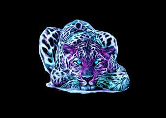 leopard commercial use t-shirt design