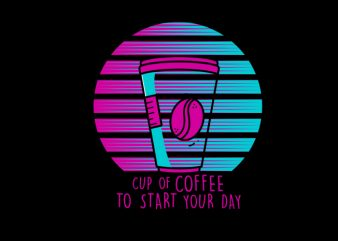 retro coffee t shirt design to buy