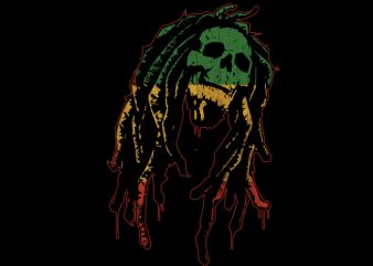 bob marley flag graphic t-shirt design