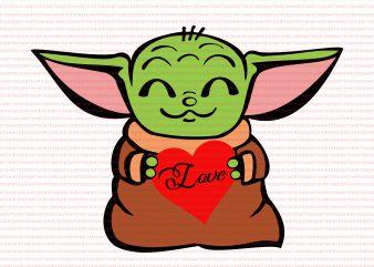 Baby yoda valentine svg,Baby yoda heart svg,Baby yoda heart png,Baby yoda heart,Baby yoda valentines png,Happy valentine's day png,Happy valentine's day baby yoda png,Happy valentine's day baby yoda t shirt design for sale