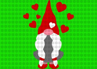 Gnomes valentine svg, Gnomes svg, valentine svg, Valentines Day svg, png, dxf, eps ai files t shirt design template