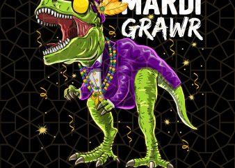 Mardi Grawr T Rex Dinosaur Mardi Gras Bead Costume PNG Download – Mardi Gras Digital Download t shirt designs for sale