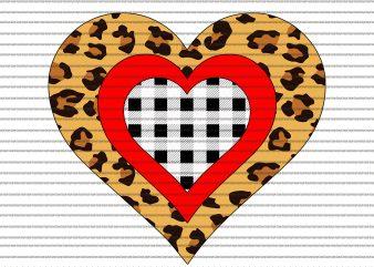 Three Hearts Buffalo png,Three Hearts Buffalo ,Three Hearts Buffalo shirt,Three Hearts Leopard Buffalo Plaid Valentine's day png,Three Hearts Leopard Buffalo Plaid Valentine's day design for t shirt