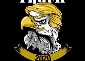 President Donald Trump American Eagle 2020 PNG Download – Funny President Digital Files t shirt illustration