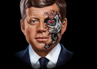 President of United States, John Kennedy Robot PNG Download – 4th of July Digital Files – Independence Day Gifts t shirt illustration