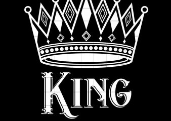 Matching Couple King and Queen Valentines Day Gift PNG Download t shirt designs for sale
