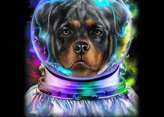 Rottweiler Dog as Astronaut Exploring Space and Galaxy PNG Download – 4th of July Digital Files – Independence Day Gifts t shirt design online