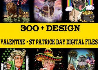 Bundle 300+ Design in Shop Digital Files – Valentine PNG Download – St Patrick Day Digital Download….