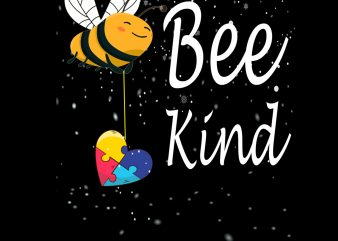Bee Kind Autism Awareness Christmas Gift PNG Download – Autism Awareness Day Digital – Autism Awareness Day t shirt template