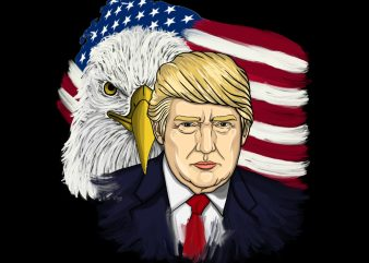 Donald Trump For President 2020 Png Download – 4th Of July Digital Download – Independence Day Gifts t shirt vector illustration