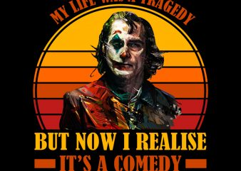 Clown Joker Think Life Tragedy Comedy PNG Download – Horror Movies Digital – Joker Scary Movies PNG File t shirt vector file