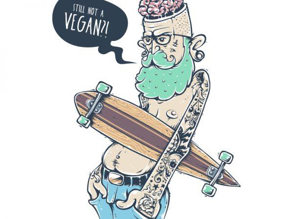 vegan cartoon design