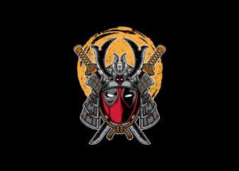 Samurai Deadpool Vector t-shirt design