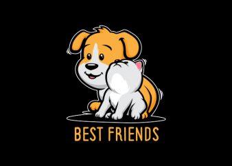 Best Friends Vector t-shirt design