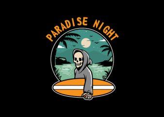 Paradise Night Vector t-shirt design
