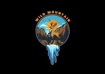 Wild Mountain Vector t-shirt design