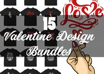 Happy Valentine Day graphic t-shirt design