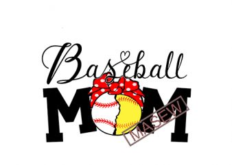 Baseball Mom SVG, Baseball SVG, Love baseball svg, Baseball Mom Shirt, Baseball Heart, Cut File for Cricut and Silhouette, print ready shirt design
