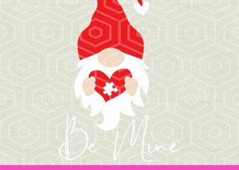 Gnome XOXO SVG, Valentine Gnome svg, Gnome SVG Cut table Design,svg,dxf,png Use With Silhouette Studio Cricut Instant Download