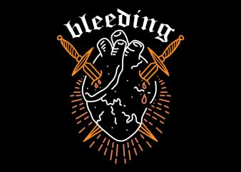bleeding tshirt design