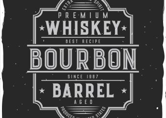 Bourbon barrel label t shirt template