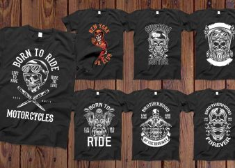 Bundle Skull Bikers vector designs 50%OFF
