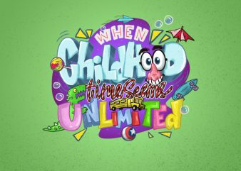 Childhod Theme for Kids Hand Lettering t shirt vector file