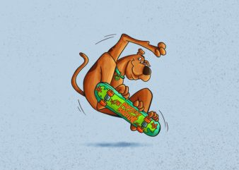 Scooby Doo Skate Mystery Inc, T-Shirt Design