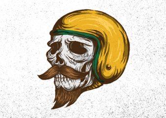 Skull Rider JPG PNG PSD t shirt template vector