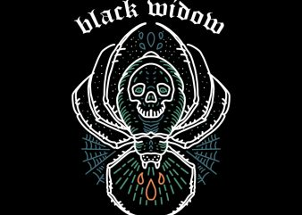 black widow tshirt design