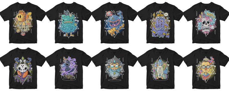 SUPER BIG BUNDLES 400 DESIGN PACK, ANIMAL, ETHNIC, CARTOON, ASTRONAUT, VINTAGE, REMIX t-shirt designs for sale