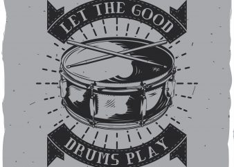 Drum T-shirt design