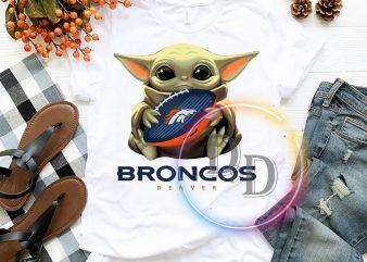Denver Broncos Baby Yoda Funny Football Fan T shirt, Football US