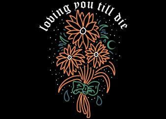 flower of love tshirt design