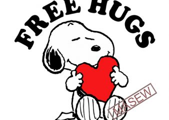 Free Hugs Snoopy, Valentine, Valentine's Day, Charlie brown, Disney EPS SVG PNG DXF digital download t shirt graphic design
